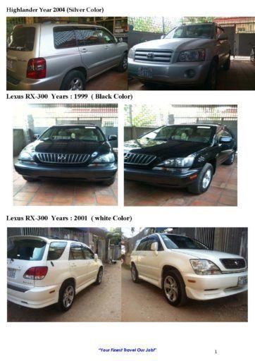 Highlander, Luxus, Camry Car Rental service